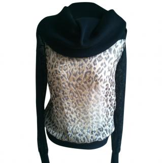 D&G Silk Leopard Print Top