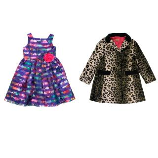 Sweet Heart Rose Girls Floral Pattern Dress & ILoveGoreous Jacket