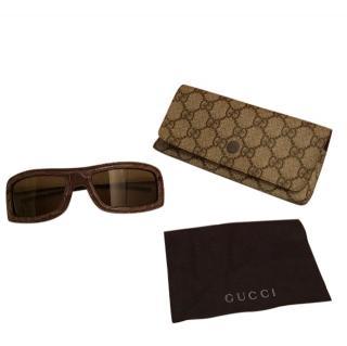 Gucci crocodile leather sunglasses