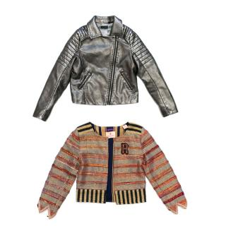 IKKS Girls Faux Leather Jacket And Scotch R'Belle Blazer