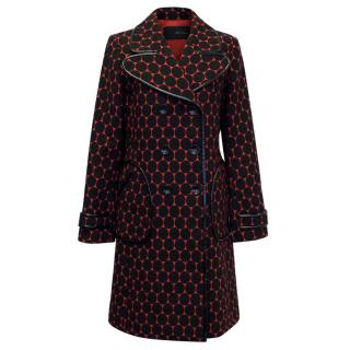 Maggio 22 Red And Black Polka Dot Coat