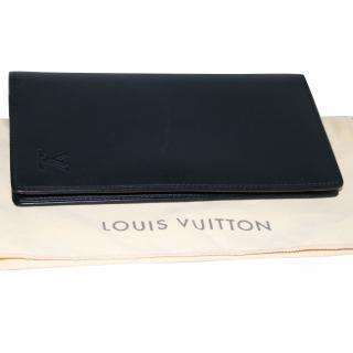 Louis Vuitton black leather wallet