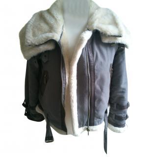 Burberry shearling coat