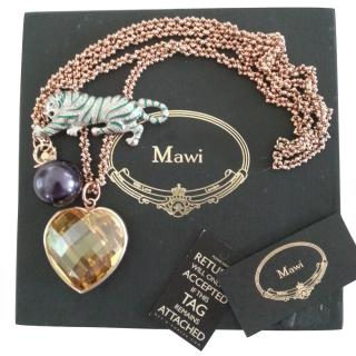 Mawi Crystal Heart & Panther Necklace
