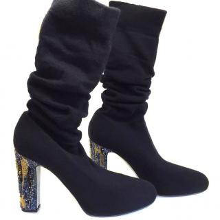 Rene Caovilla cashmere socks boots