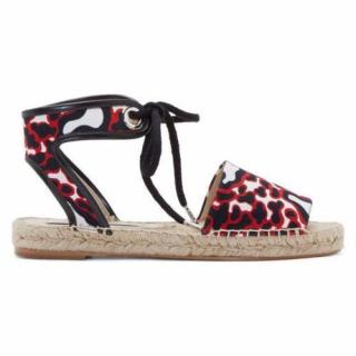 Stella McCartney red and black Espadrilles, UK size 3