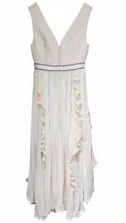 Self-portrait V-neck Midi Dress With Fluted Pleats