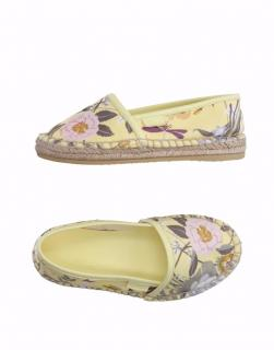 Gucci Yellow Floral Espadrilles, UK 11 Kids