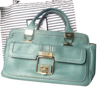 Anya Hindmarch blue leather handbag
