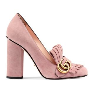 Gucci Marmont pale pink heels