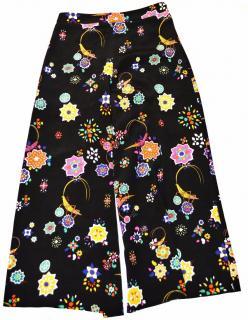 Emilio Pucci black silk wide-leg culottes