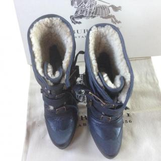 Burberry Prorsum aviator shearling boot