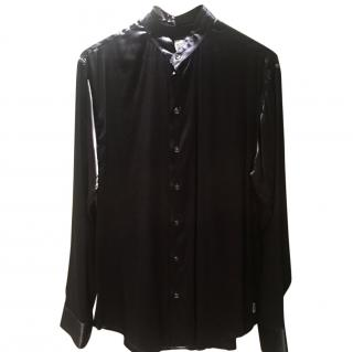 Armani Navy Silk Shirt