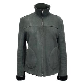 Farhi Grey Sheepskin Jacket