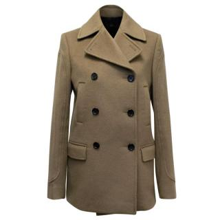 Joseph Taupe Wool and Cashmere Double Breasted Coat