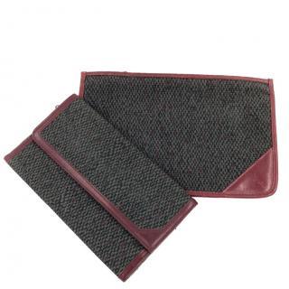 YSL Yves Saint Laurent Wallet & Cosmetic Pouch Case Clutch Bag
