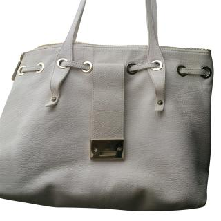 Jimmy Choo White Leather Tote Bag