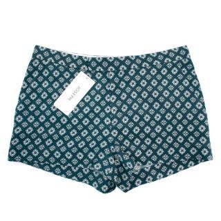 Joseph Blue Printed Shorts