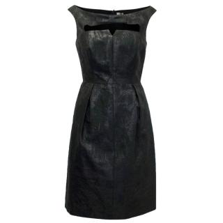 Hoss Black Glitter Cut Out Dress With Bow