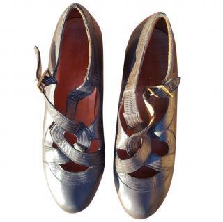 Chie Mihara Grey Heels
