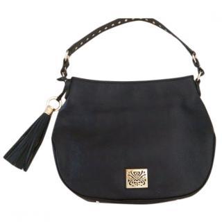 Biba Black Leather Handbag