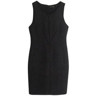 Fendi charcoal mohair marl-knit sleeveless sheath dress
