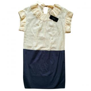 Sonia Rykiel Cream and Blue Dress