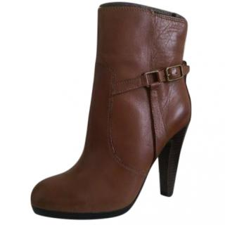 Ash Dark Tan Ankle Boots