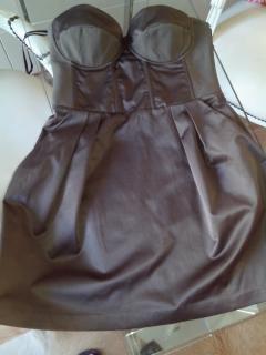 Elisabetta Franchi Strapless Dress with Corset