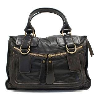 Chloe Brown Leather Zip Bag