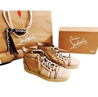 Christian Louboutin Men's brown leather sneakers