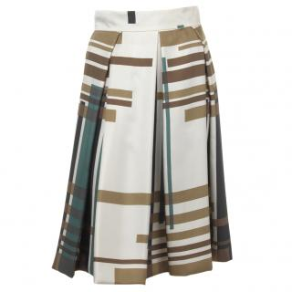 SportMax Graphic Print Silk Skirt