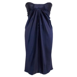 Amanda Wakeley Purple Silk Strapless Dress
