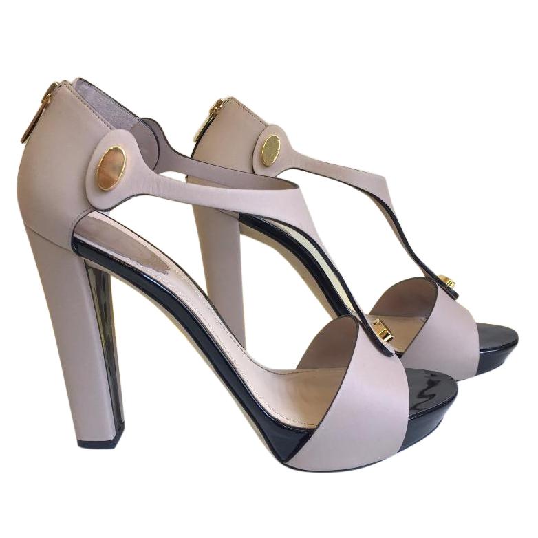 Rene Caovilla taupe high heel sandals