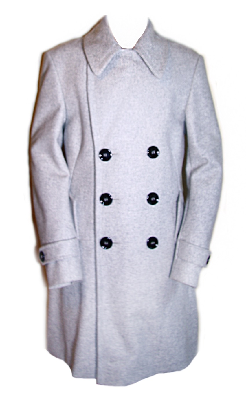 Yves Saint Laurent Men's wool Coat with feature buttons