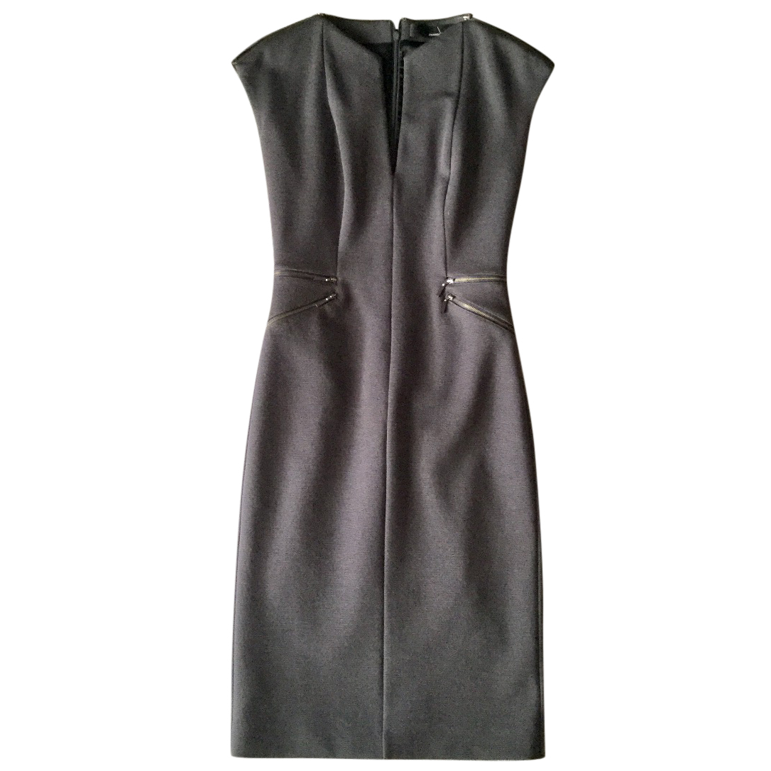Amanda Wakeley Grey Wool-Mix Form-Fitting Dress