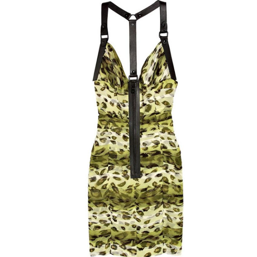 Burberry Prorsum Animal Print Cocktail Dress