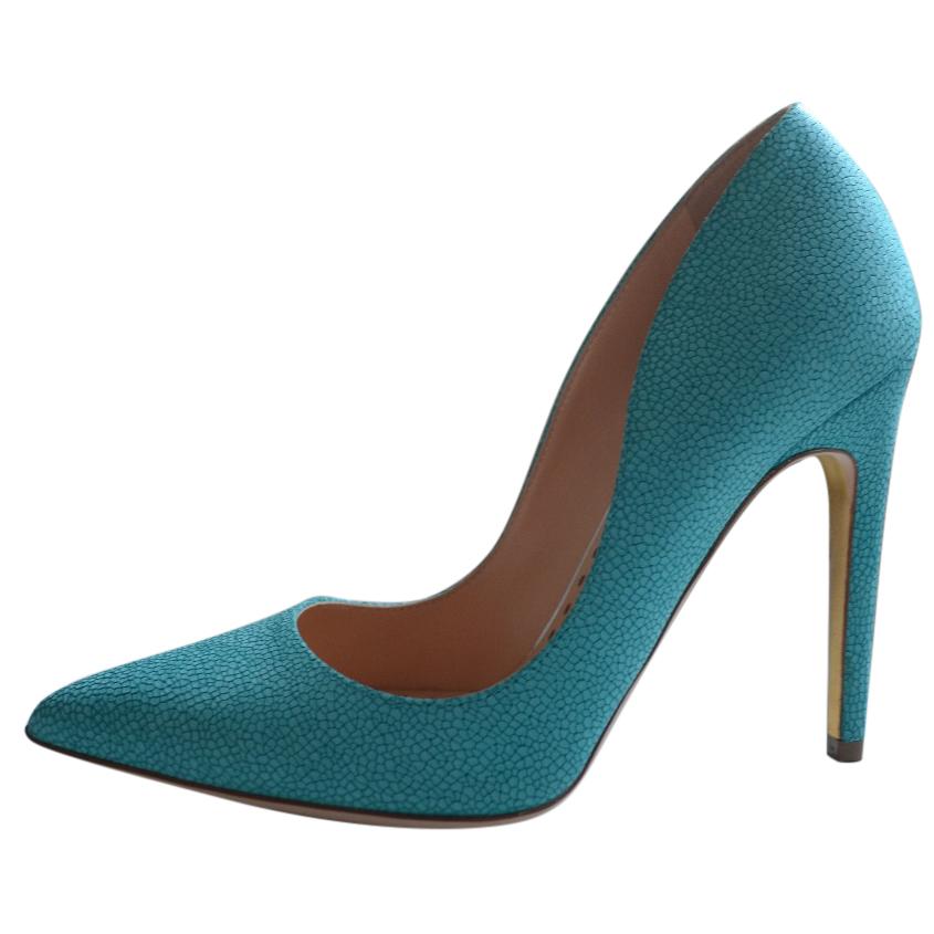 Rupert Sanderson Turquoise Calf Leather pumps