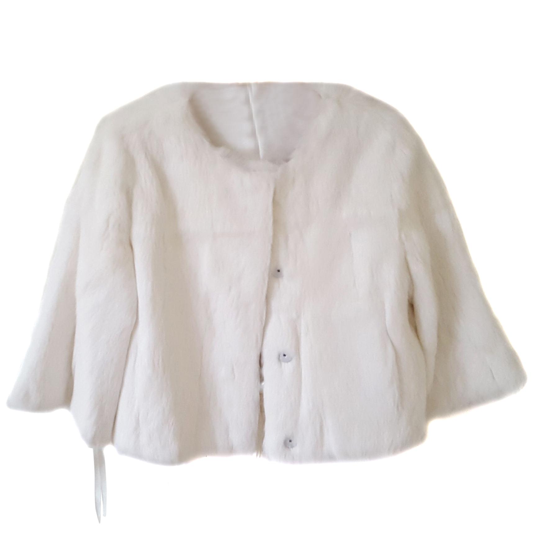 Red Valentino White Rabbit Fur Jacket