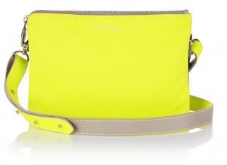 Meli Melo Women's Grey Duma Cross-body Bag In Taupe & Fluoro Yellow