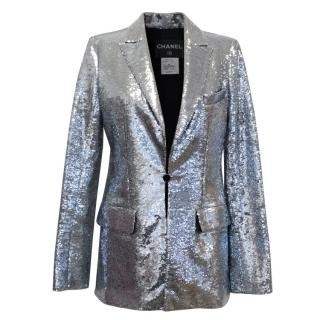 Chanel Silver Sequin Blazer