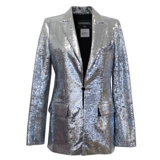 Chanel Silver Sequin Blazer