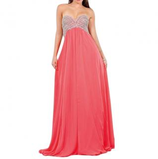 Jovani Coral Embellished Evening Dress