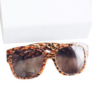 Dior Tortoise Print Sunglasses