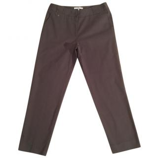 Gerard Darel Cotton blend brown slim fit crop trouser