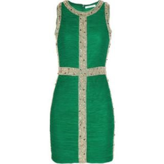 Rachel Gilbert Green Embellished Dress
