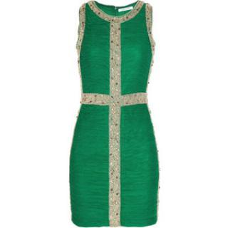 Rachel Gilbert Green Embellished Dress