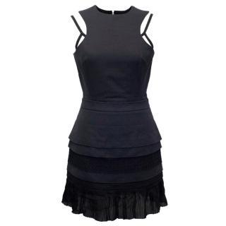 Victoria Beckham Navy Mini Dress