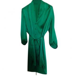 Hugo Boss green silk dress