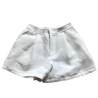 5cm White Organza Shorts